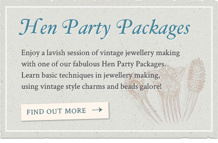 Jewellery making hen party packages
